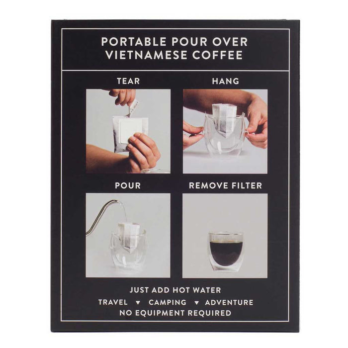 Copper Cow Coffee, Organic Vietnamese Black Coffee Kit, 5-Pack (No Creamer)