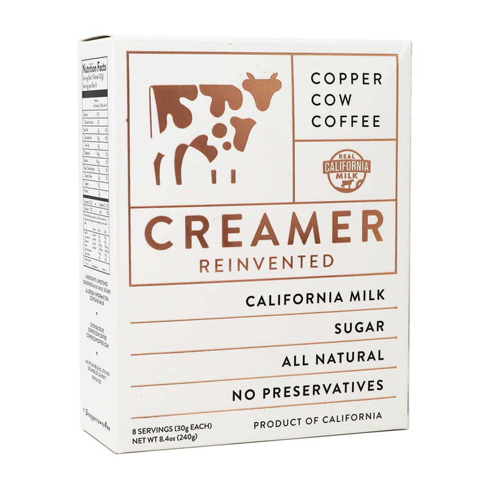 Copper Cow Coffee - California Farms Sweetened Condensed Milk Portables, 8-Pack