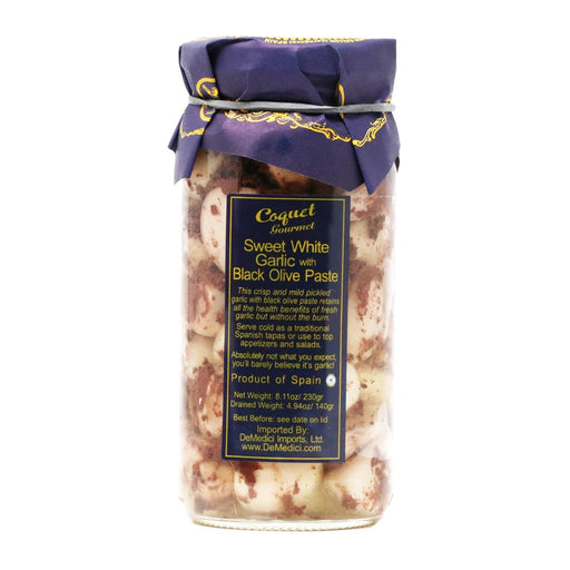 Coquet - Sweet White Garlic Cloves with Black Olive Paste, 8.7oz