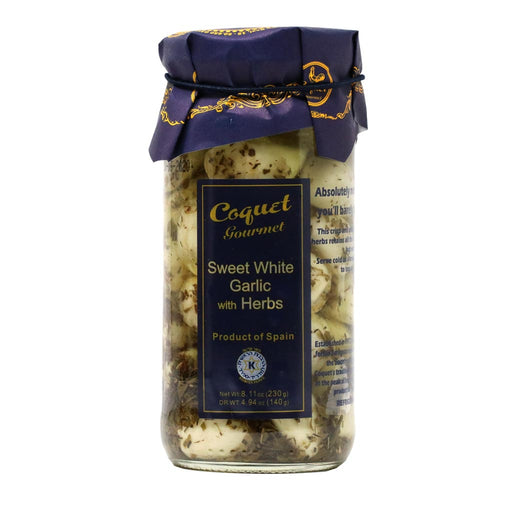 Coquet - Sweet White Garlic Cloves with Herbs, 8.7oz