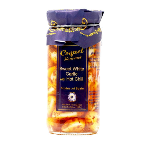 Coquet - Sweet White Garlic Cloves with Hot Pepper, 8.7oz