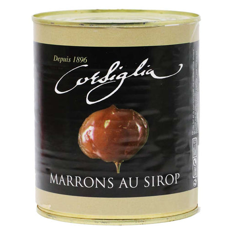Corsiglia - Candied Chestnuts in Syrup, 650g (1.4lb) Can