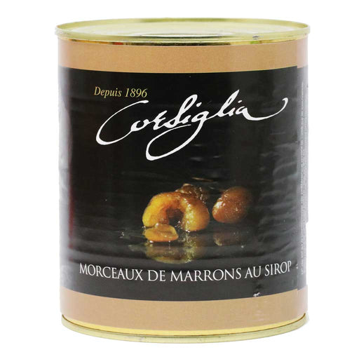 Corsiglia - Broken Candied Chestnuts in Syrup, 650g (1.4lb) Can