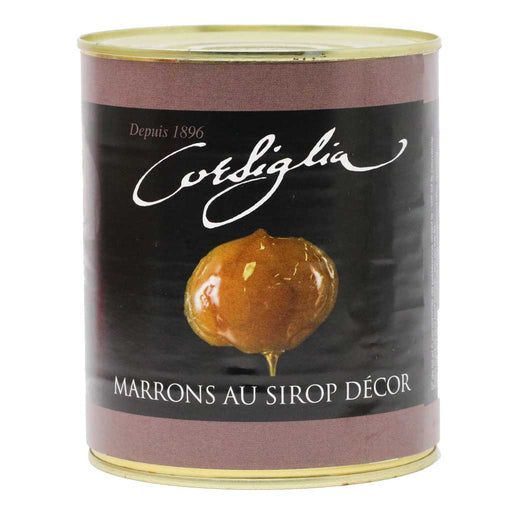 Corsiglia - Small Candied Chestnuts in Syrup, 650g (1.4lb) Can