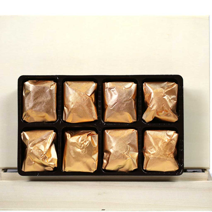 Candied Chestnuts (Marrons Glaces), 8 pc Wooden Box