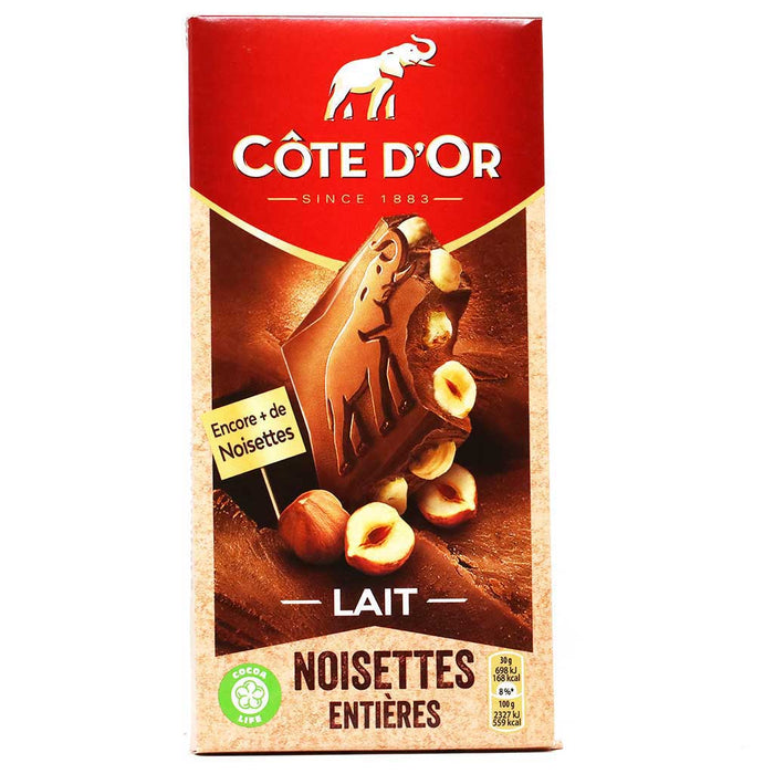 Cote d'Or - Milk Chocolate with Hazelnuts, 180g (6.4oz)