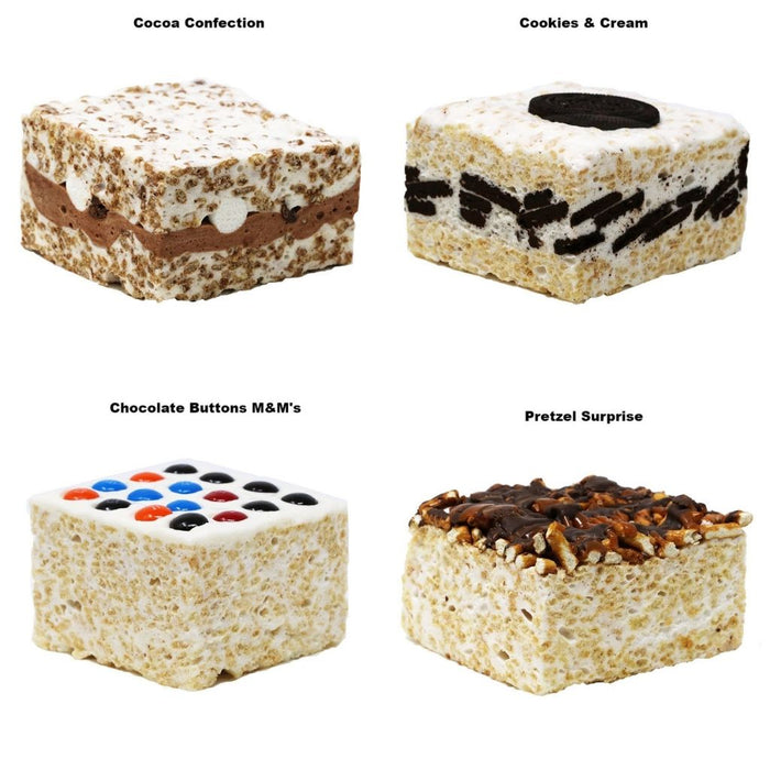 The Crispery - Handmade Chocolate Marshmallow Rice Crispy Treats (Sampler Pack), 4 x 6oz