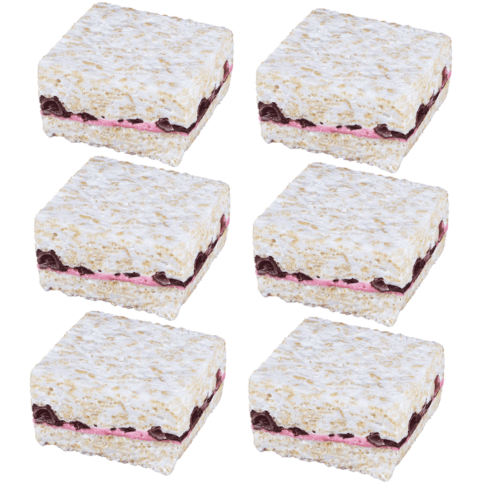The Crispery Handmade Marshmallow Rice Crispy Treats, 6oz (Raspberry Chocolate)