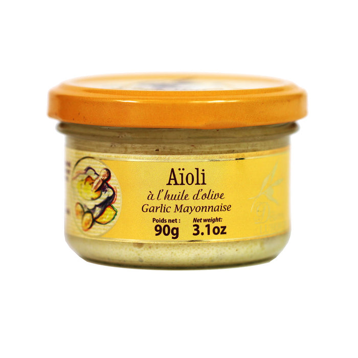 Delices du Luberon - Garlic Aioli Sauce from Provence, 90g Jar