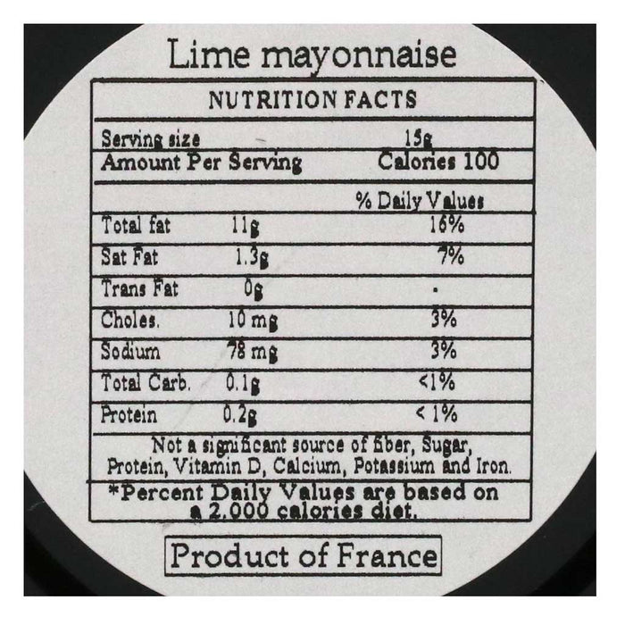 Delouis - Lime Mayonnaise, 125g (4.4 oz)