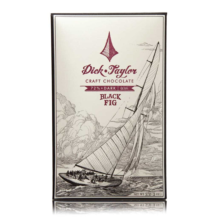 Dick Taylor Black Fig 72% Dark Craft Chocolate Bar, 57g (2oz)