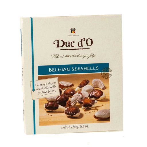 Duc d'O - Belgian Seashells with Praline Filling, 8.8oz (250g) Box