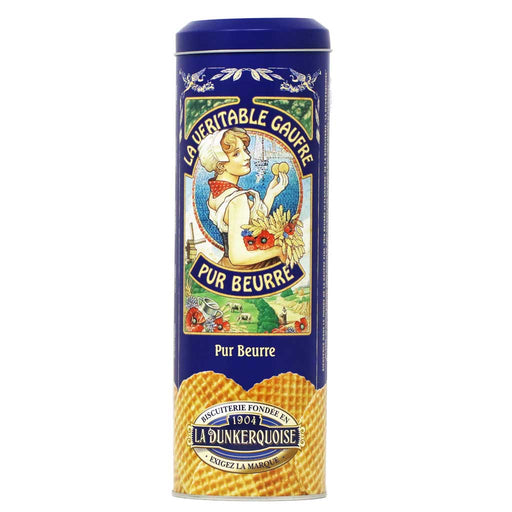 La Dunkerquoise - Pure Butter Waffle Cookies, 14.1oz Gift Tin