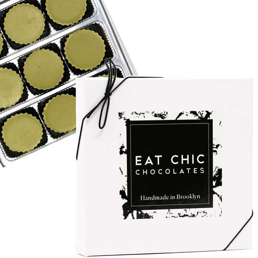 Eat Chic Chocolates - Matcha Cashew Butter Cups, Box of 9