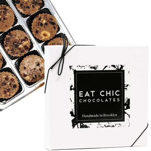 Eat Chic Chocolates - Mocha Hazelnut Butter Cups, Box of 9