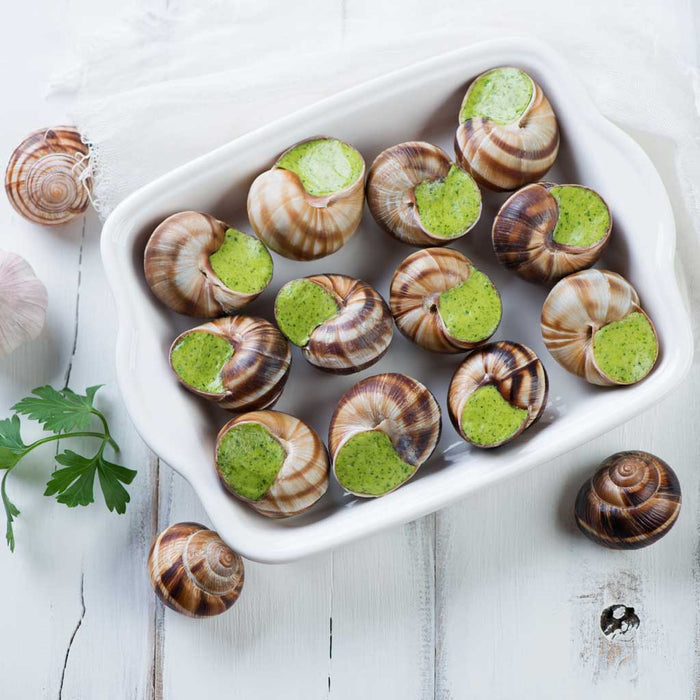 White Toque - Extra Large Helix Escargots with Butter, 12pc, 4.4oz (125g)