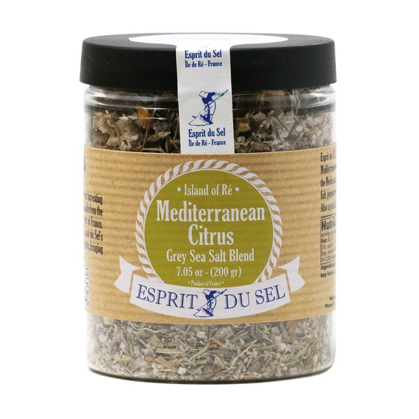 Esprit du Sel - Mediterranean Citrus Blend Grey Sea Salt, 7.05oz