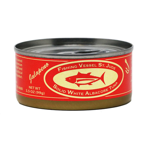 St Jude - Natural White Albacore Tuna with Jalapeno, 3.5oz Can