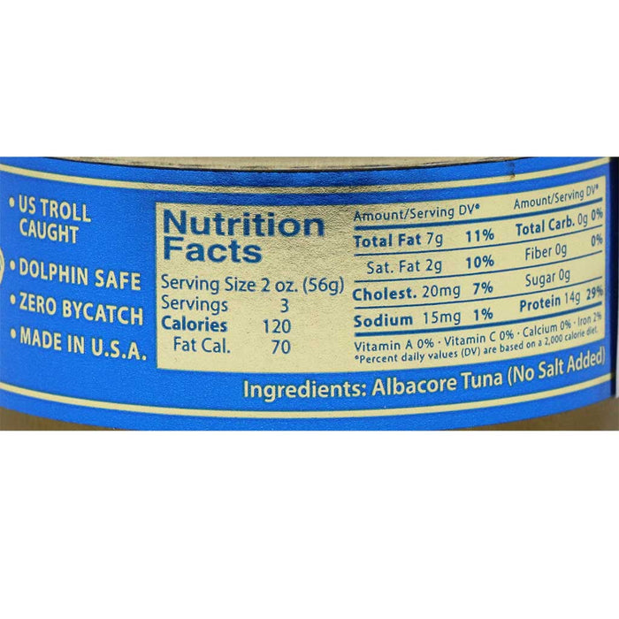 St Jude - Natural White Albacore Tuna (Unsalted), 6oz Can