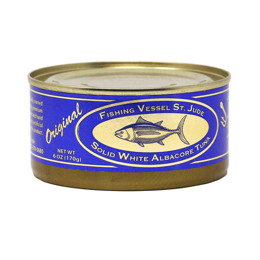 St Jude - Natural White Albacore Tuna with Sea Salt, 6oz Can