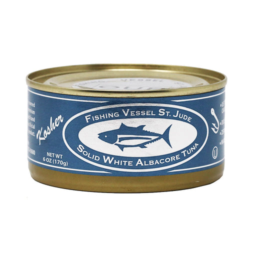 St Jude - Natural White Albacore Tuna with Kosher Sea Salt, 6oz Can