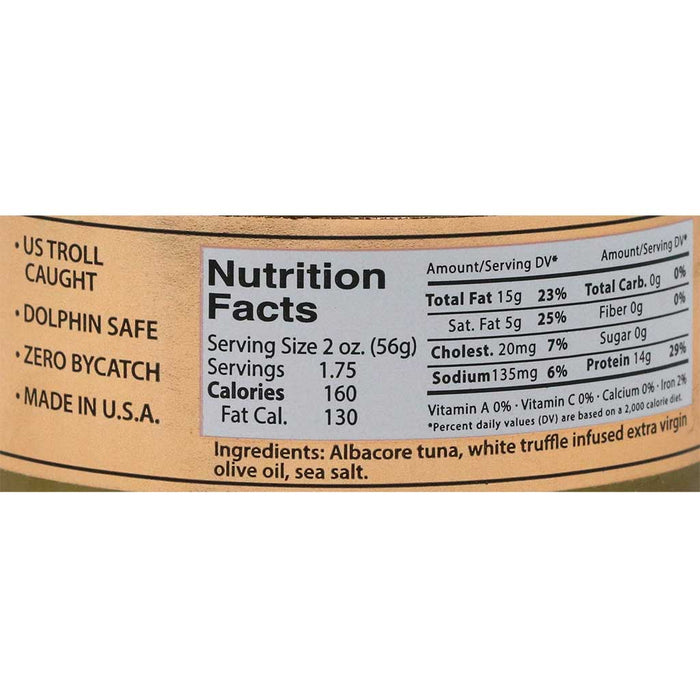 St Jude - Tarantella White Albacore Tuna Belly with Truffle, 3.5oz Can