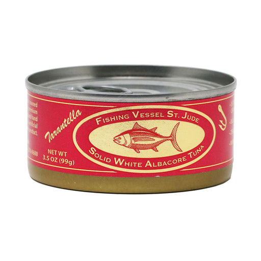 St Jude - Natural Tarantella White Albacore Tuna Belly in Organic Olive Oil, 3.5oz