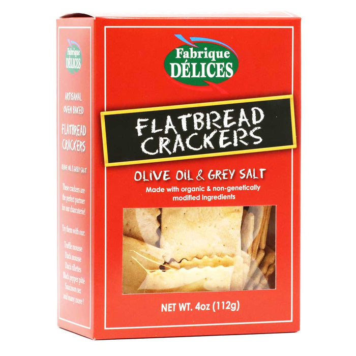 Fabrique Delices - Flatbread Crackers with Olive Oil & Grey Salt, 4oz
