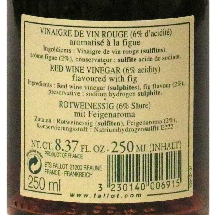 Edmond Fallot - Red Wine Vinegar with Fig, 250ml