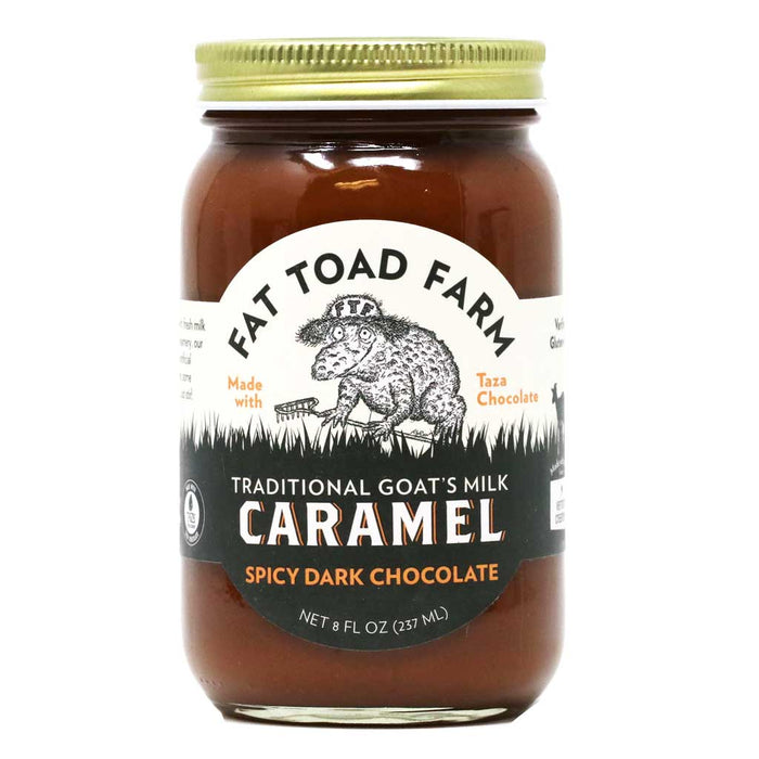 Fat Toad Farm - Spicy Dark Chocolate Goat's Milk Caramel Sauce, 8oz