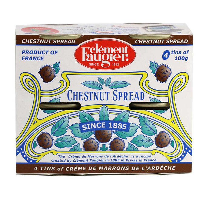 Clement Faugier - Chestnut Spread, Pack of 4 Mini Cans (4x100g)