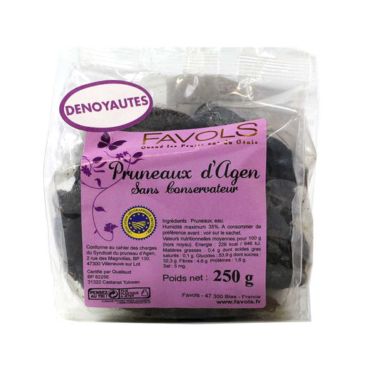 Favols Agen Pitted Prunes - Pruneaux d'Agen, 8.8 oz