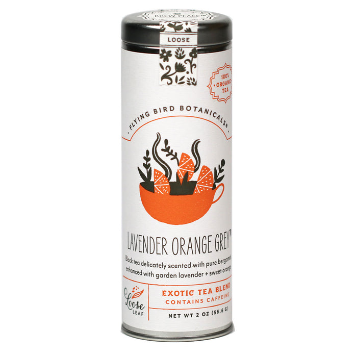 Flying Bird Botanicals - Organic Lavender Orange Grey Black Tea