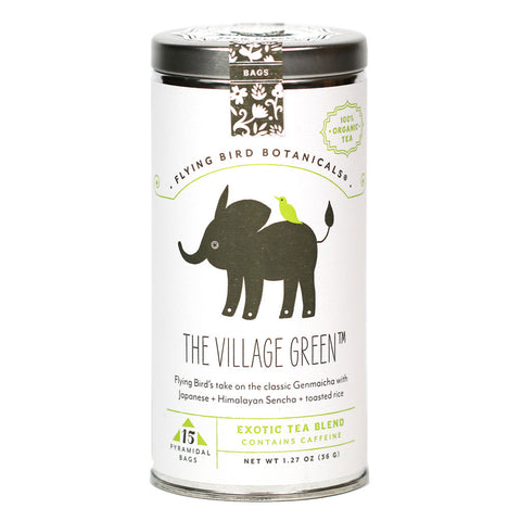 Flying Bird Botanicals - Village Green Organic Genmaicha Tea