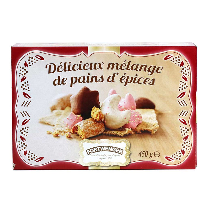 Fortwenger, Assorted French Gingerbread Cookies, 15.9oz Box
