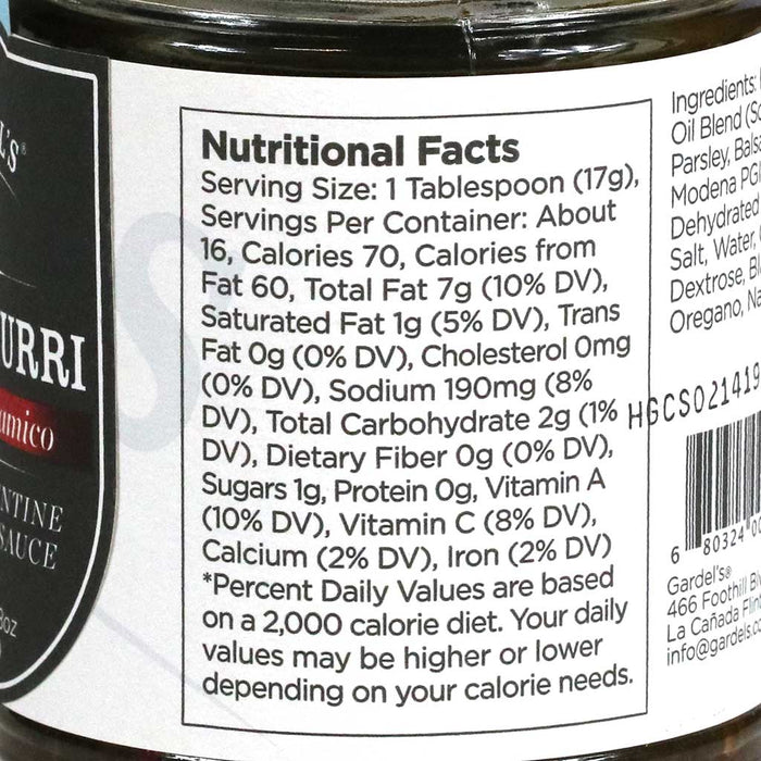 Gardel's - Chimichurri Spicy Argentine Grilling Sauce, 8oz Jar
