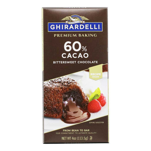 Ghirardelli - Bittersweet Chocolate Baking Bar (60% Cacao), 4oz