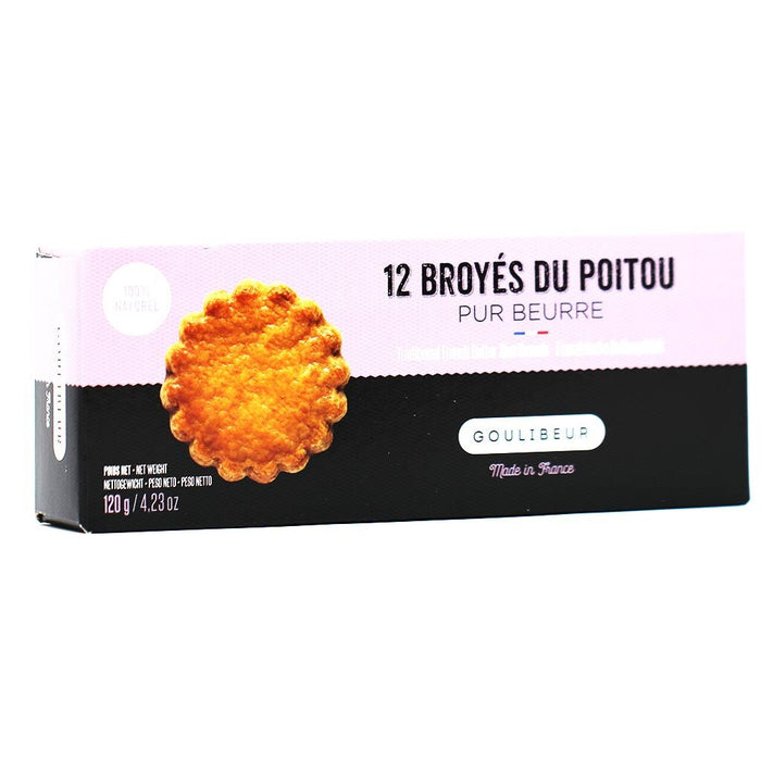 Goulibeur - French Pure Butter Shortbread Biscuits (Broye du Poitou), 120g (4.2oz)