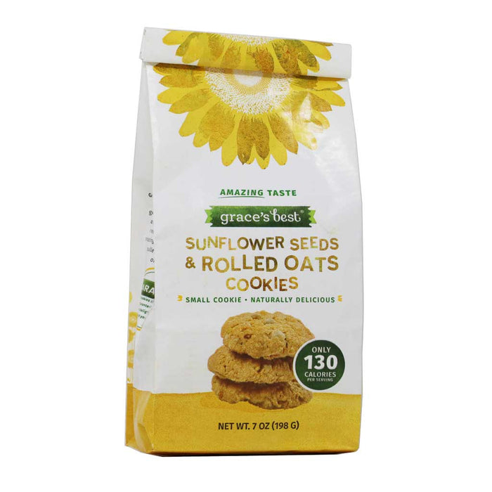 Grace's Best Sunflower Seeds & Rolled Oats Cookies, 7oz (198g)