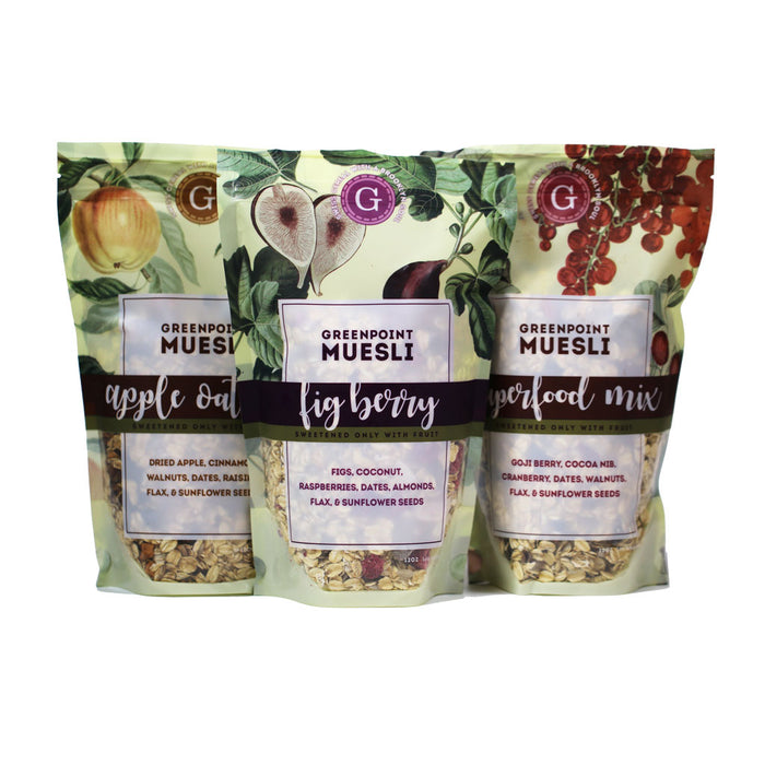 Greenpoint Muesli Raw Artisan Granola - Superfood Mix, 12oz Bag