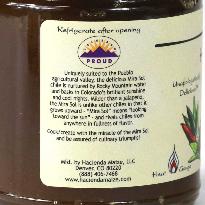 Hacienda Maize - Mira Sol Verde Mild Hot Pepper Jelly, 11.4oz Jar