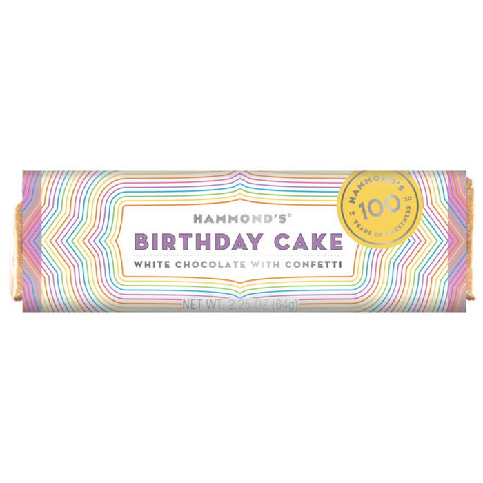 Hammond's Birthday Cake White Chocolate Bar, 2.25oz (64g)