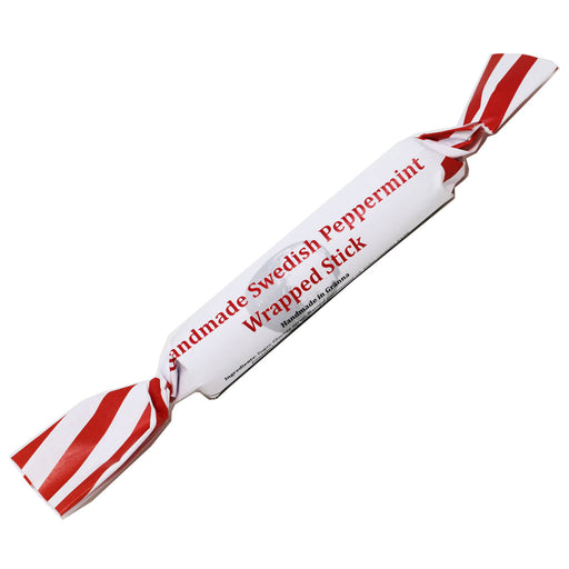 Granna Polkagrisar - Handmade Swedish Peppermint Wrapped Stick, 0.9oz