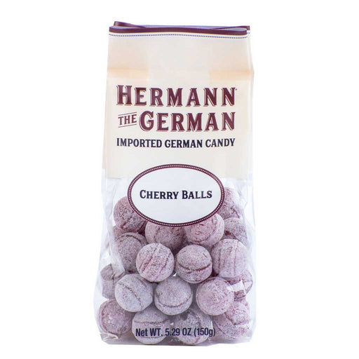 Hermann the German Cherry Balls Hard Candy