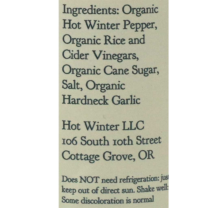 Hot Winter Original Organic Pepper Hot Sauce (Medium Hot), 6oz