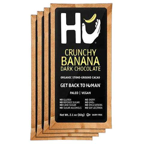 Hu - Crunchy Banana Dark Chocolate Bar (Organic, Vegan, Paleo), 2.1oz