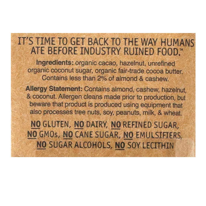 Hu - Hazelnut Butter Dark Chocolate Bar (Organic, Vegan, Paleo), 2.1oz
