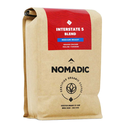 Nomadic - Organic Interstate 5 Whole Bean Coffee, Medium Roast, 12oz