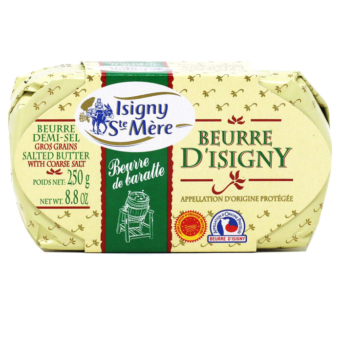 Isigny Ste Mere - Salted Churned Butter from France, 8.8oz (250g)