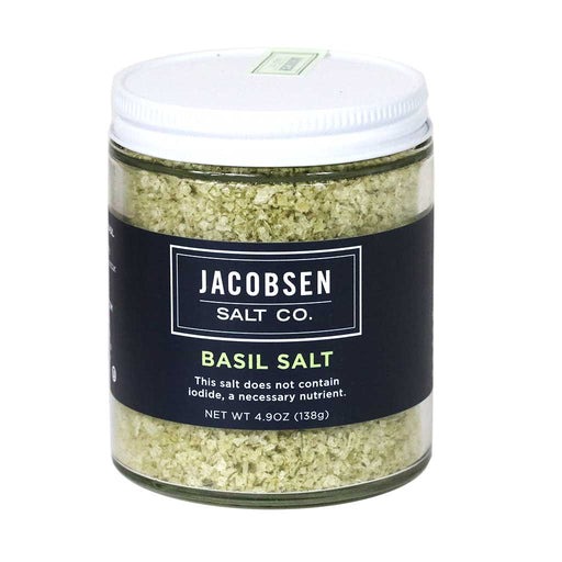 Jacobsen Salt - Basil Infused Salt, 4.9oz Jar